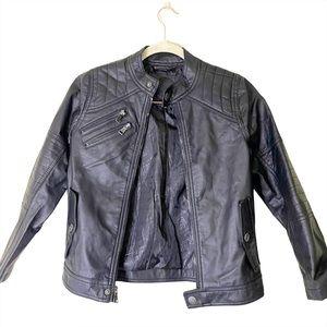 Urban Republic Faux Leather Moto Jacket Sz 10/12